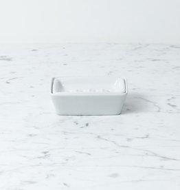 Zangra Belgian Porcelain Soap Dish - 2 Parts - White