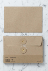 Kraft Envelope with String Closure - Set of 6 - Medium - 4.5 x 6.75 in