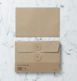 Kraft Envelope with String Closure - Set of 6 - Medium - 4.5 x 6.75 in