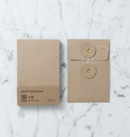 """Kraft Envelope with String Closure - Set of 8 - Small - 3 x 4.75"""""""