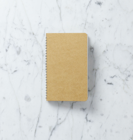 Japanese Handbound Spiral Kraft Notebook - A6 - Blank