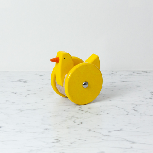 Wooden Wobbling Chicken - Bright Yellow