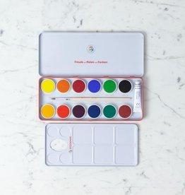 Stockmar Opaque Watercolor Paint Palette - 12 Colors