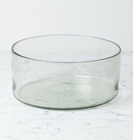 "Handblown Straight Side Glass Serving Bowl - Large - 5.25"" x 10.25"""