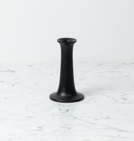 "Simple Candle Holder - Small - Black - 3 1/4"" x 5"""