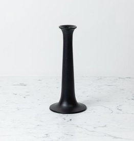 "Simple Candle Holder - Large - Black - 3 1/4"" x 10"""
