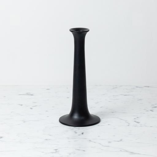 """Simple Candle Holder - Large - Black - 3 1/4"""" x 10"""""""
