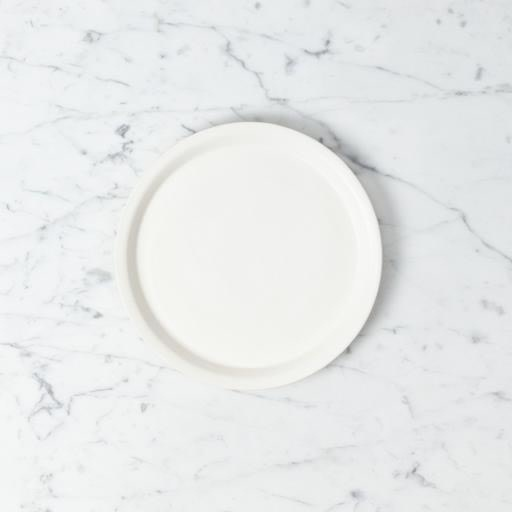 Tracie Hervy Ceramics Tracie Hervy Wheel Thrown Salad Plate with Slim Lip - 10.5 in - Silky White Porcelain