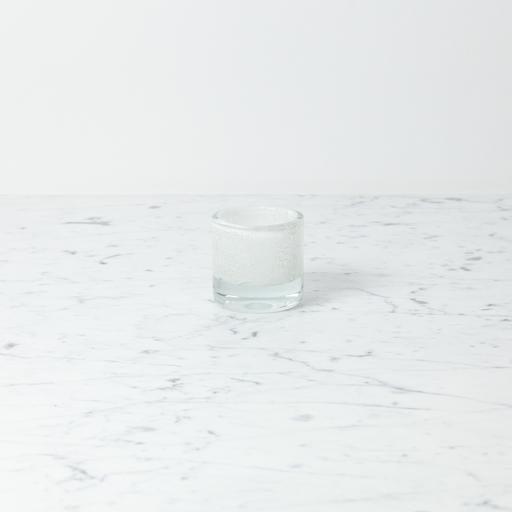 "Henry Dean Mary Votive Holder - Ecru Bubbly White - 2 1/2"""
