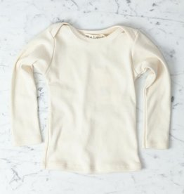 Mabo Kids Organic Cotton Long Sleeve Tee Shirt - Natural - 12 Month