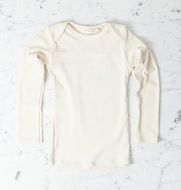 Mabo Kids Organic Cotton Long Sleeve Tee Shirt - Natural - 4/5 Year
