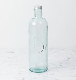 Recycled Glass Bottle with Screw Lid - Tall - 1.6 liter