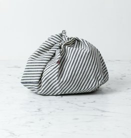 Ambatalia Organic Cotton + Hemp Bento Bag - Grey Tick Stripe - Small