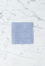 Lithuanian Linen Coaster - Sally Petite Blue Gingham