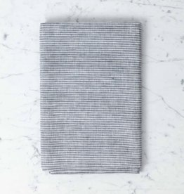 Fog Linen Lithuanian Linen Table Cloth - Small - Grey + White Stripe