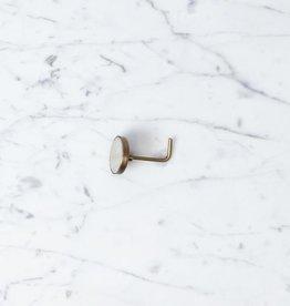 """Fog Linen Brass Magnetic Hook - Square - 2"""""""