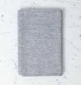 "Lithuanian Linen Tablecloth - Large - Grey + White Stripe - 50 x 70"""