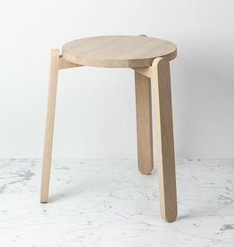Skagerak Danish Nomad Three Leg Stacking Stool - Untreated Oak