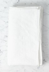 """Linge Particulier Light Washed French Linen Waffle Bath Towel - Vintage Optic White - 40 x 62"""""""