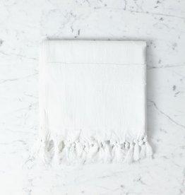 Thalassa Home Nephele Cotton Turkish Hand Towel - White - 20 x 40 in
