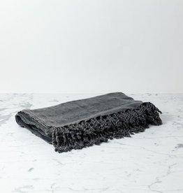 Kaya Cotton Turkish Throw - Black - 75 x 90 in