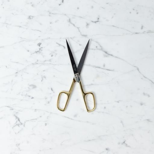 Handmade Italian Office Scissors with 24 Karat Gold Handle - 7.25 in
