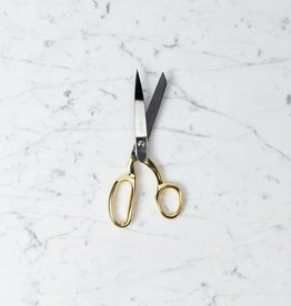 Handmade Italian Dressmaker Shears with 24 Karat Gold Handle - 8""