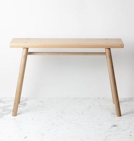 Sun at Six Wing Stand Slim Bench - Solid White Oak