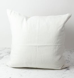 """Libeco Home Belgian Linen Napoli Down Pillow - Oyster - 25 x 25"""""""