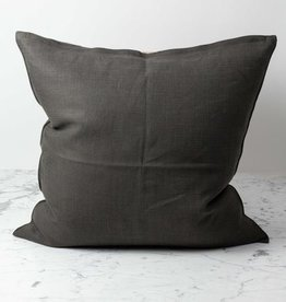 Libeco Home Belgian Linen Napoli Down Pillow - Cafe Noir - 25 x 25""