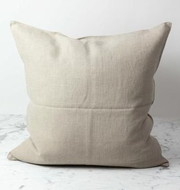 """Libeco Home Belgian Linen Napoli Pillow with Down Insert - Flax - 25 x 25"""""""
