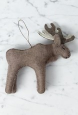 Craftspring Hand Felted Wise Brown Moose Ornament