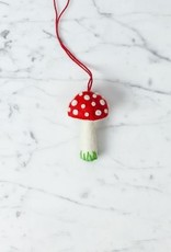 Hand Felted Mushroom Ornament - Red - Small