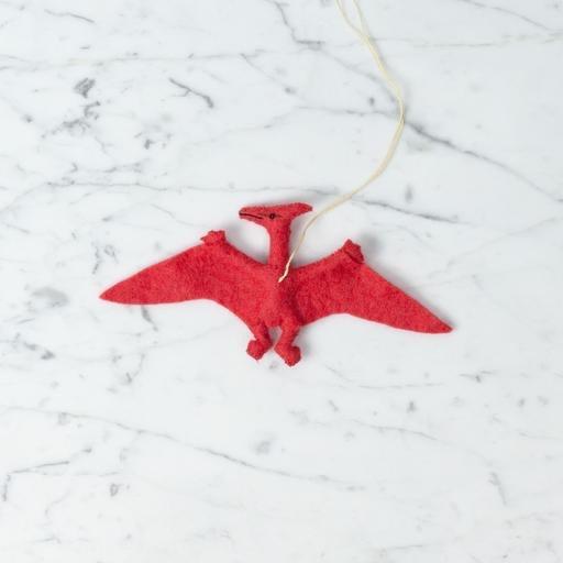 Hand Felted Pterodactyl Dinosaur Ornament