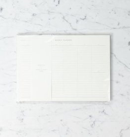 "Kartotek Simple Danish Weekly Planner Pad - Medium Grid - Blue - A4 - 8"" x 12"""