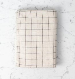Morihata Japanese Grid Check Graph Bath Towel - Earl Grey