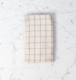 Morihata Japanese Grid Check Graph Hand Towel - Earl Grey