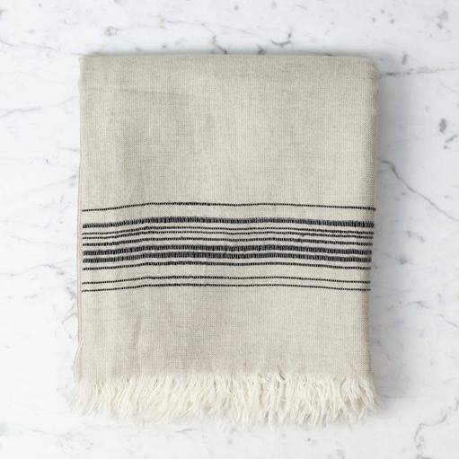 Thalassa Home Hera Fine Turkish Linen Cotton Bath Towel Stone