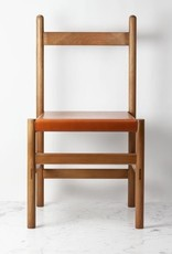 Sun at Six Juniper Chair - White Oak and Leather - Sienna