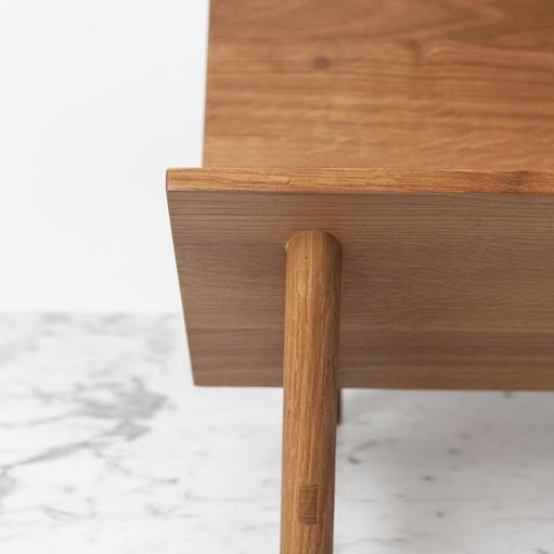 Sun at Six Rise Bookstand - Solid White Oak - Sienna