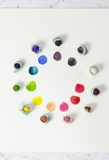 Natural Pigment Handmade Watercolor Paintstones - Waabshkaande White - Individually Wrapped