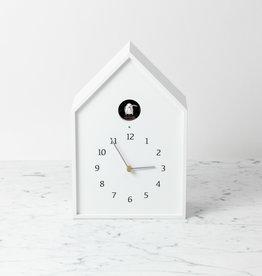 Birdhouse Clock - White