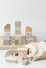 Stacking Wooden Cityscape Block Set - 54 Pieces