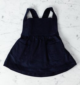 Mabo Kids Annie Pinafore - Navy Corduroy - 12 Month