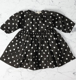 Mabo Kids Georgie Polka Dot Dress - Brown - 2/3 Year