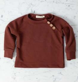 Mabo Kids Organic French Terry Sweatshirt - Chestnut - 12 Month