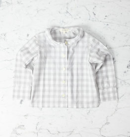 Mabo Kids Harper Gingham PJ set - Grey - 4/5 Year