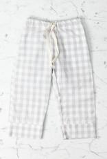 Mabo Kids Harper Gingham PJ set - Grey - 6/7 Year