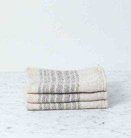 Flax Line Washcloth - Brown + Beige