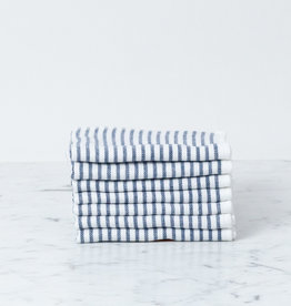 Shirt Stripe Mini Towel - Navy Breton Stripe